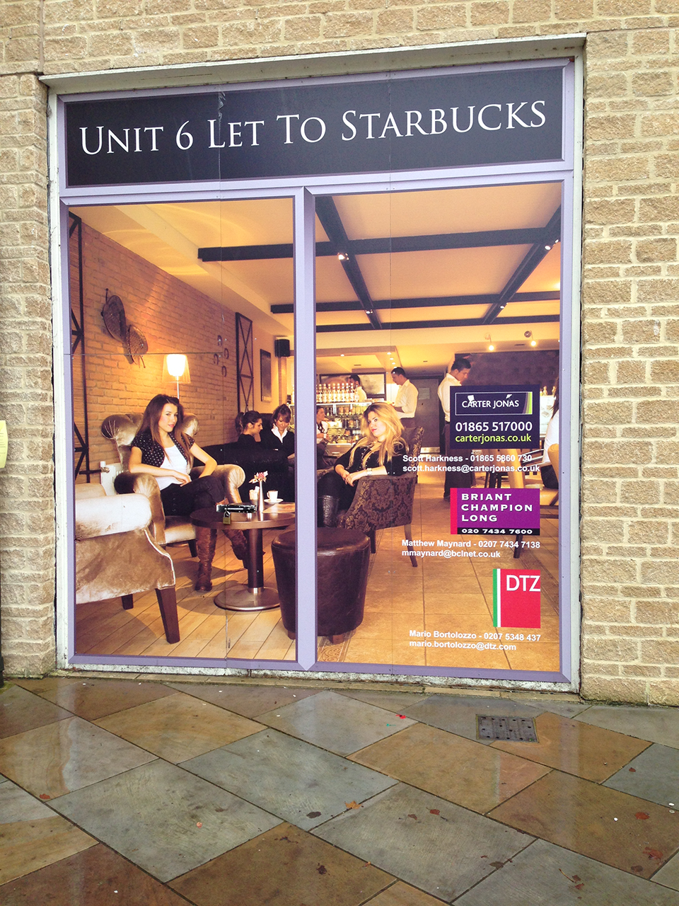 Starbucks Window Vinyl Signs