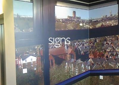 Background Window Vinyl Signs