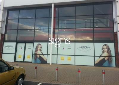 Retail Unit to Let Window Vinyl Signs