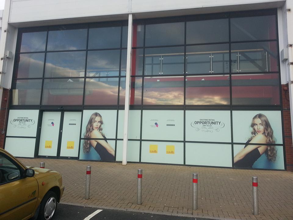 Retail Unit to Let Window Vinyl Signs