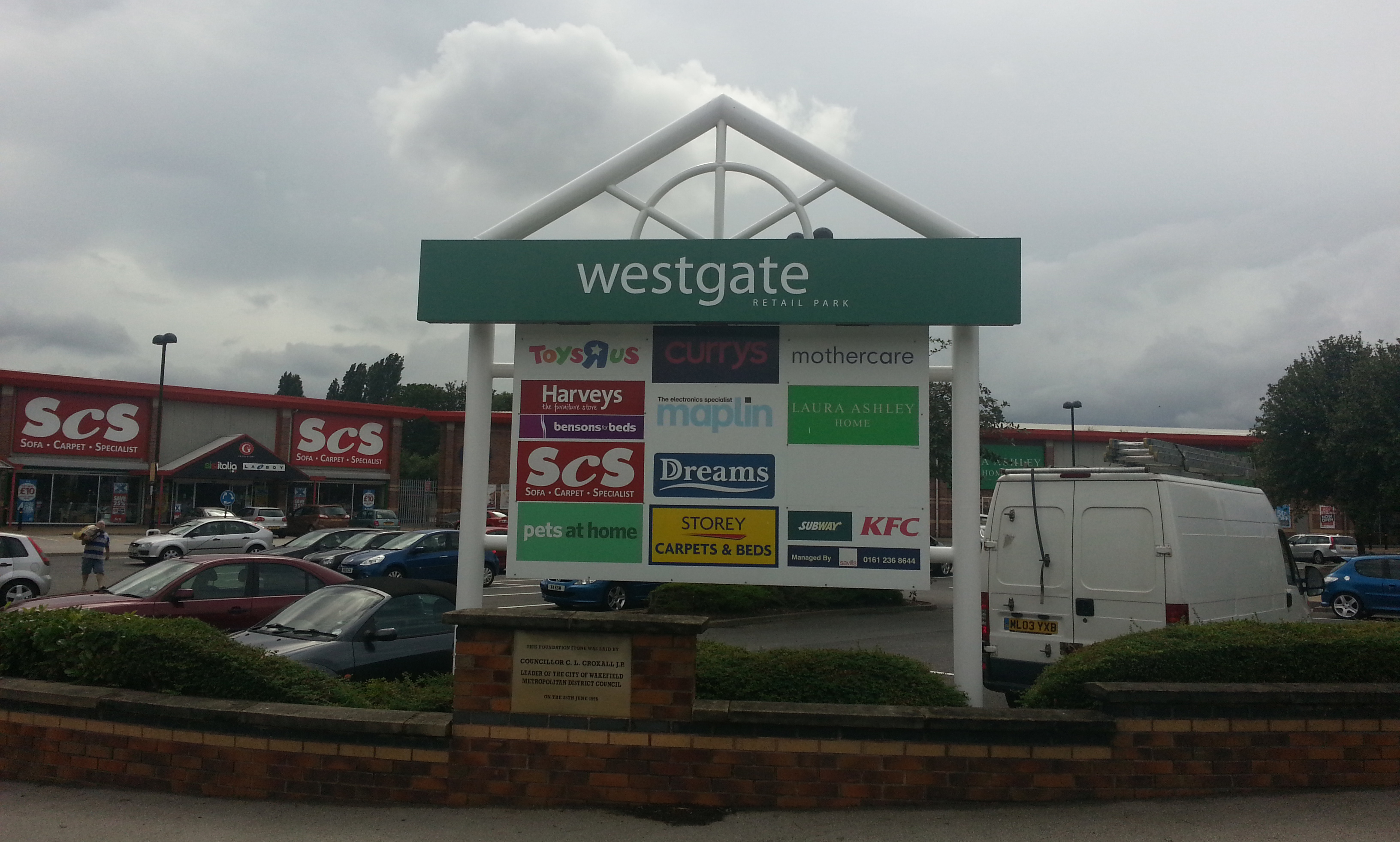 Westgate Retail Park Sign