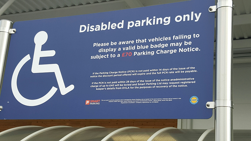 Disabled Parking Sign Post
