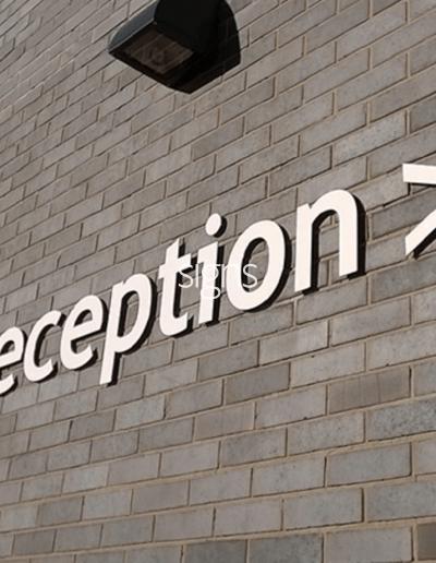 Reception Healthcare Signs