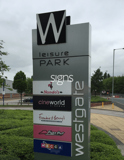 Westgate Leisure Park Signs