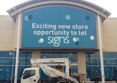 Retail Unit to Let Flex Face Sign