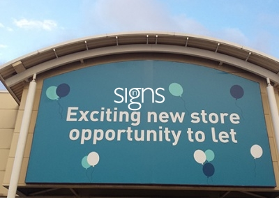 Retail Unit to Let Flex Face Sign